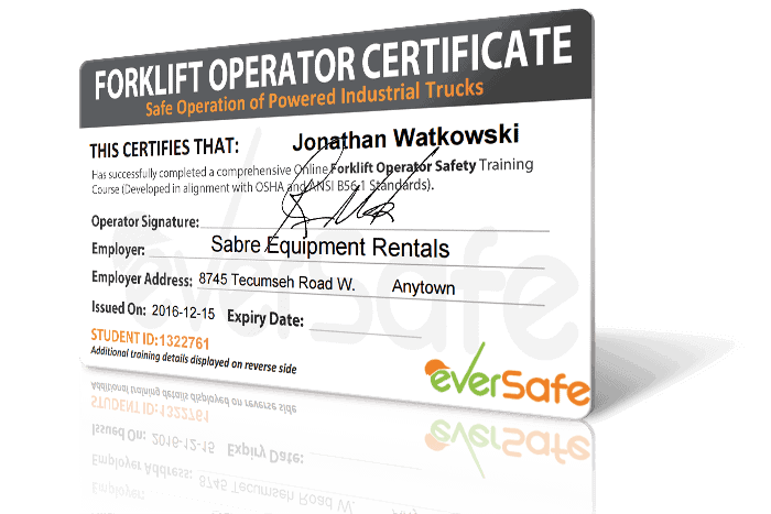 Online Forklift Certification Training Get Your Forklift